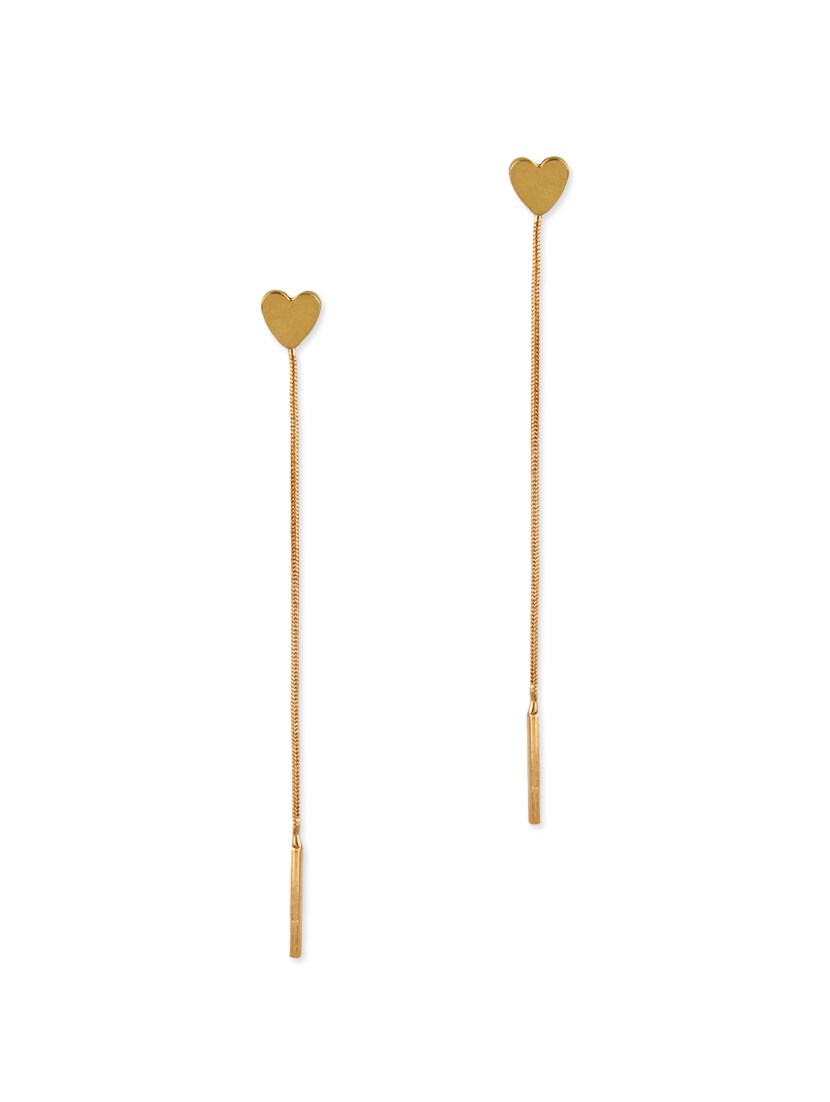 Gold Metal Drop Earring - By