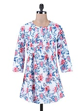 Multicolour Floral Printed Cotton Tunic - By