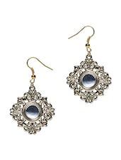 Gold Metallic Dangle Earrings - By