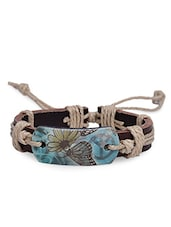 Multicolour Faux Leather Bracelet - By