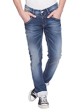 Spykar Mens Blue Skinny Fit Low Rise Jeans (Actif) -  online shopping for Jeans