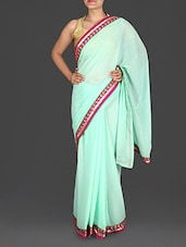 Sky Blue Georgette Saree - Roop Sha