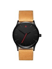 brown strap analog watch -  online shopping for Analog Watches