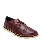 brown leatherette brouge -  online shopping for Brouges