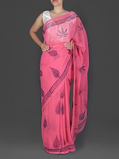Peach Printed Chiffon Saree - By
