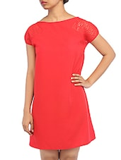 Lace Cap Sleeve Boat Neck Dress - RIGOGLIOSO