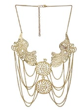 Gold Filigree Chained Necklace - By