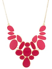 Pink Metallic Statement Necklace - By