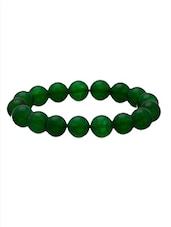 Green Synthetic Beads Bracelet - By