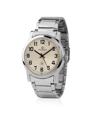 Maxima Silver Analog Watch For Men -  online shopping for Analog Watches