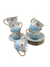 multi colored bone china  tea set -  online shopping for Coffee & Tea Sets