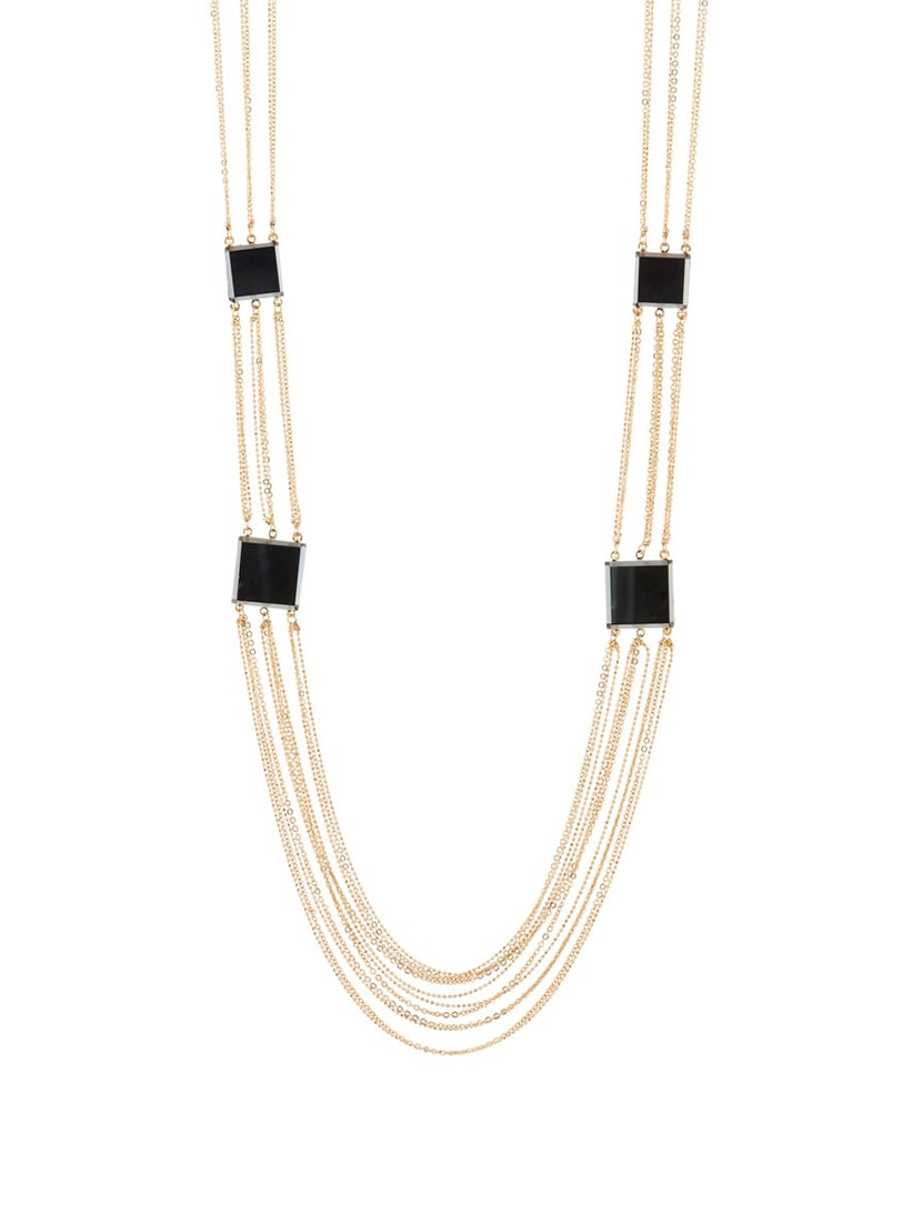 Gold Plated Metal Long Necklace - By
