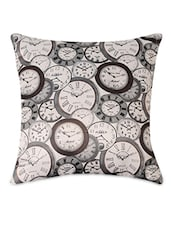 Clock Pattern Print Cushion Cover - By