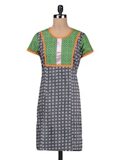 Black Cotton Summer Kurti - By