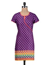 Purple Cotton Summer Kurta - By