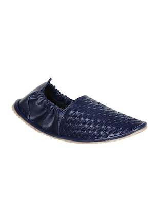 blue  leatherette espadrille -  online shopping for Jutis