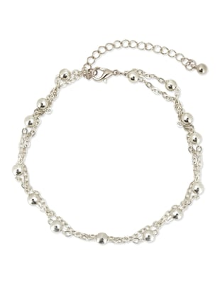 silver metal anklet -  online shopping for anklets and payals