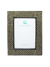 Black And Gold Wooden Photo Frame - By