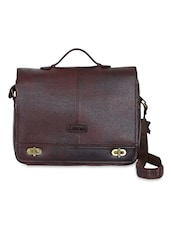 Brown Leather Laptop Bag - By - 1193814