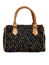 Black Printed Duffle Inspired Handbag - Hawai