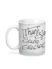 Multicolour Thank You Saying Ceramic Mug - By