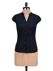 Black Cotton Spandex Shirt - By