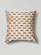 Beige Poly Silk Cushion Cover - By
