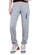 Grey Cotton Trackpants - By