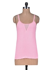 Solid Pink Cotton Camisole - By