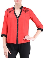 Red Rayon Shirt - By