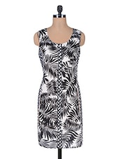 Monochrome Cotton Printed  Dress - By