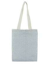 Blue Printed Canvas Tote Bag - By