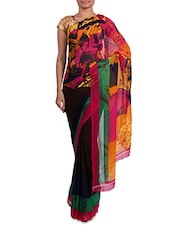 Multicoloured Printed Georgette Saree - Admyrin