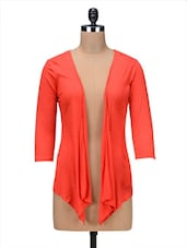 Orange Viscose Long Shrug - By