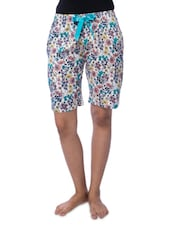 Multicolored Rayon Printed Shorts - By