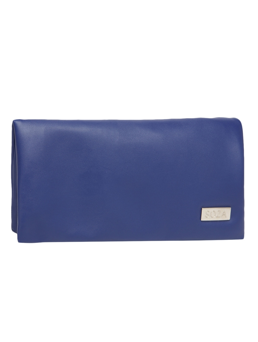 Textured Royal Blue Leather Sling Bag - By
