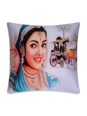 Multicolor Cotton Printed Cushion Cover - By