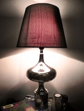 Black And Silver Table Lamp - By