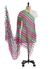 Multicolor Printed Tissue Jute Dupatta - By