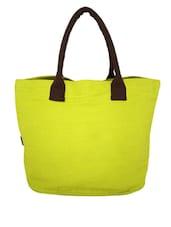 Green Canvas Medium Shoulder Bag - By