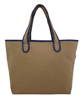 Brown Canvas Medium Shoulder Bag - By