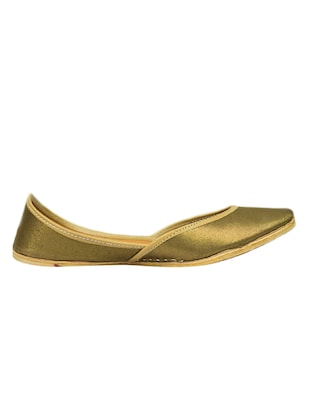 Solid bronze leather mojris -  online shopping for Jutis & Mojaris