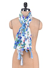 Multicolour Printed Georgette Scarf - By