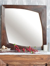 Sheesham Wood Frame Mirror - By