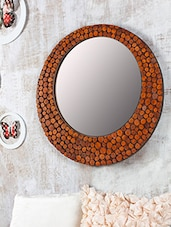 Eucalyptus Wood Framed Mirror - By