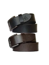 black and brown color leather belts, set of 2 -  online shopping for Belts