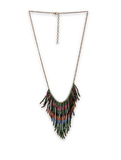 Colourful Fringed Necklace - Accessory Bug