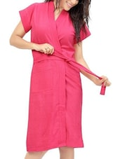 pink cotton bathrobe -  online shopping for bath robes