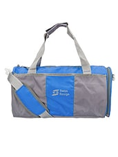 Blue Nylon Gym Bag - By