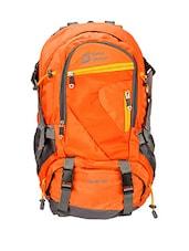 Orange Nylon Trekking Bag - By